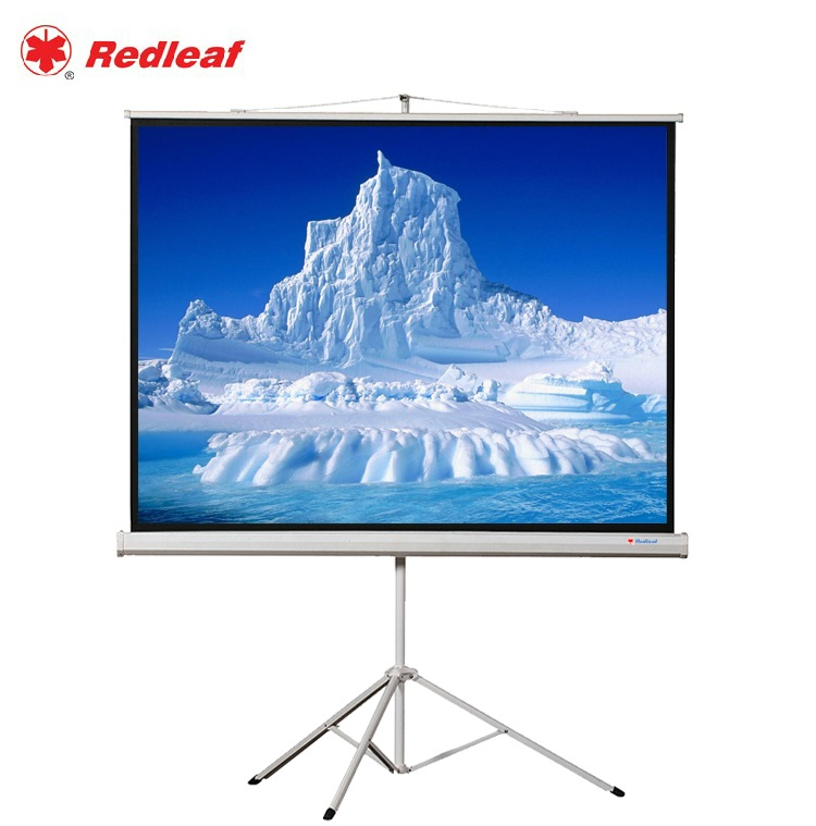 Zhangjiagang leaves 120 inch 4:3 bead projection screen 100-inch screen bracket screen portable mobile free shipping from mentioning