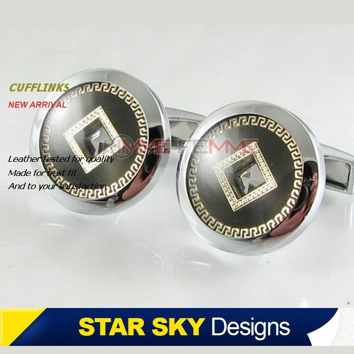 Zhao â â star genuine men cufflinks/does not wear cufflinks/french shirt button gift boxed XK1693 copper coins