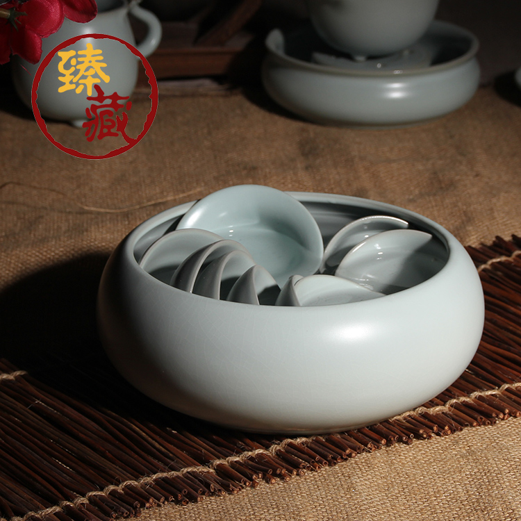 Zhen tibetan tea to wash large ceramic tea to wash large opening film ru ru tea cup yuanben road ru ru kung fu tea specials