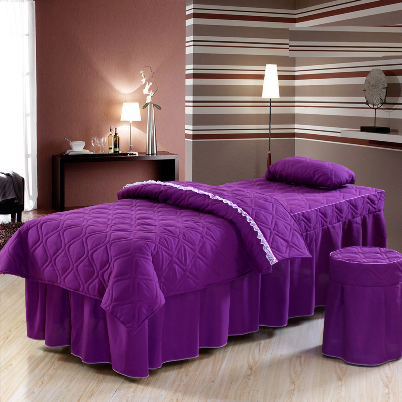 Zheng bo beauty bedspreads denim bedspread purple lace bedspread denim massage beauty salon four seasons general special
