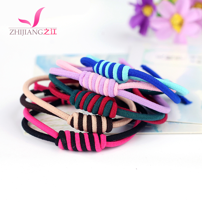 Zhijiang braided rubber band color series basis tousheng hair rope hair tie hair ring headdress hair accessories high elastic and durable