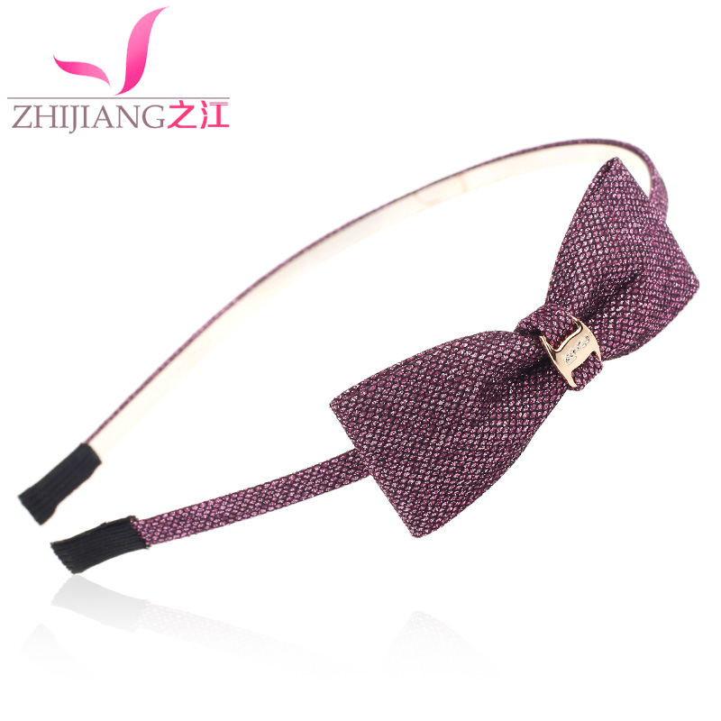 Zhijiang minimalist fine hairpin hairpin bow hair bands south korean women's thin section korean version of sweet headband cocking headdress hair accessories