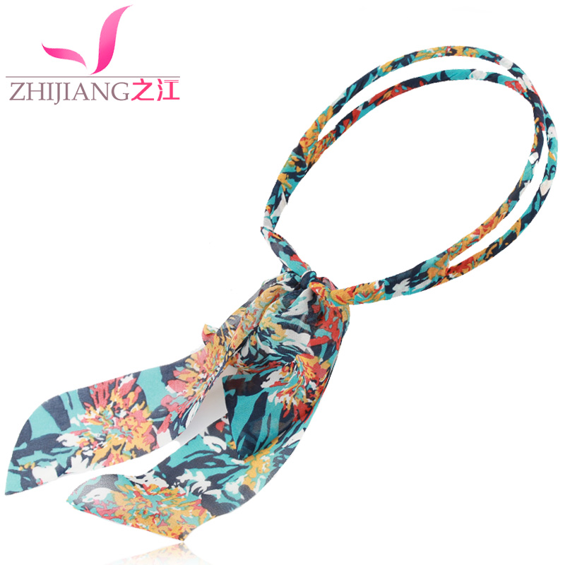 Zhijiang parallel bars ribbon korean bow hair hoop headband hairpin headdress korean version of cloth cocking broadside female headdress