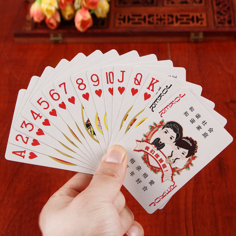 Zhixin jacuzzi cartoon poker poker poker creative festive wedding supplies wedding wedding props favor