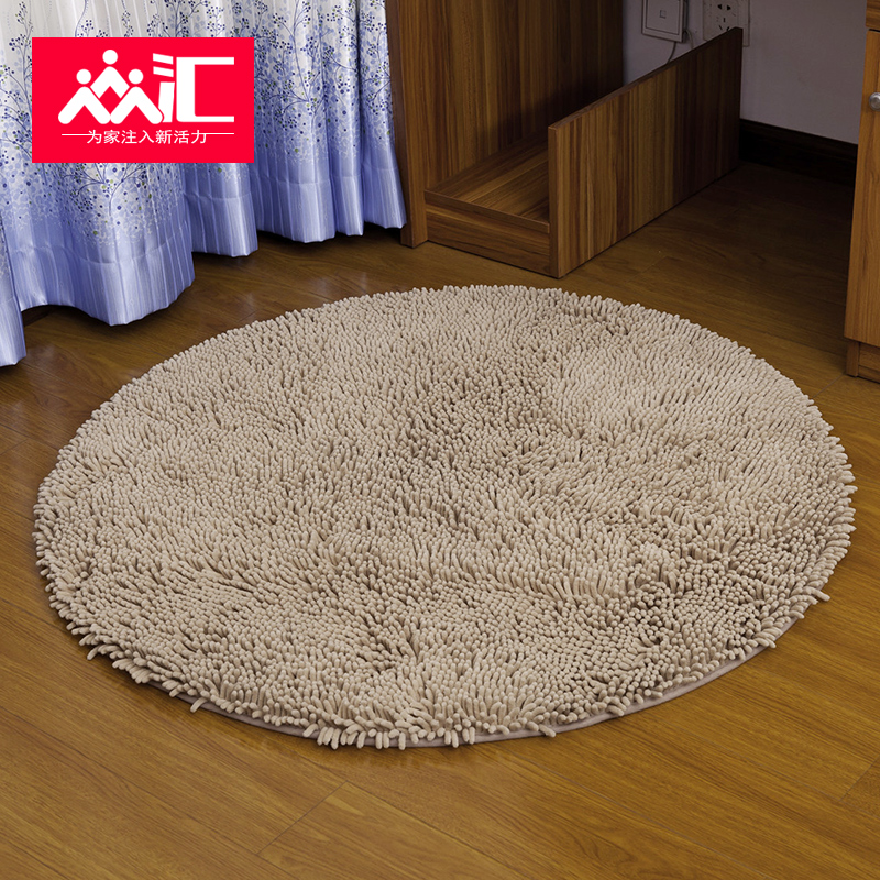Zhonghui Chenille Rug Round Carpet Bed Bedroom Bedside Computer Chair Swivel Blanket Yoga