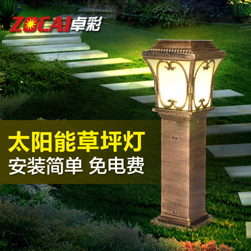 Zhuo color solar lawn lights outdoor courtyard garden villa garden lights outdoor waterproof too can positronic street