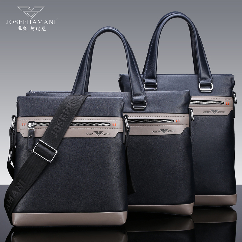 Zhuo fan armani man bag leather messenger bag business briefcase handbag shoulder bag korean version of casual men with disabilities