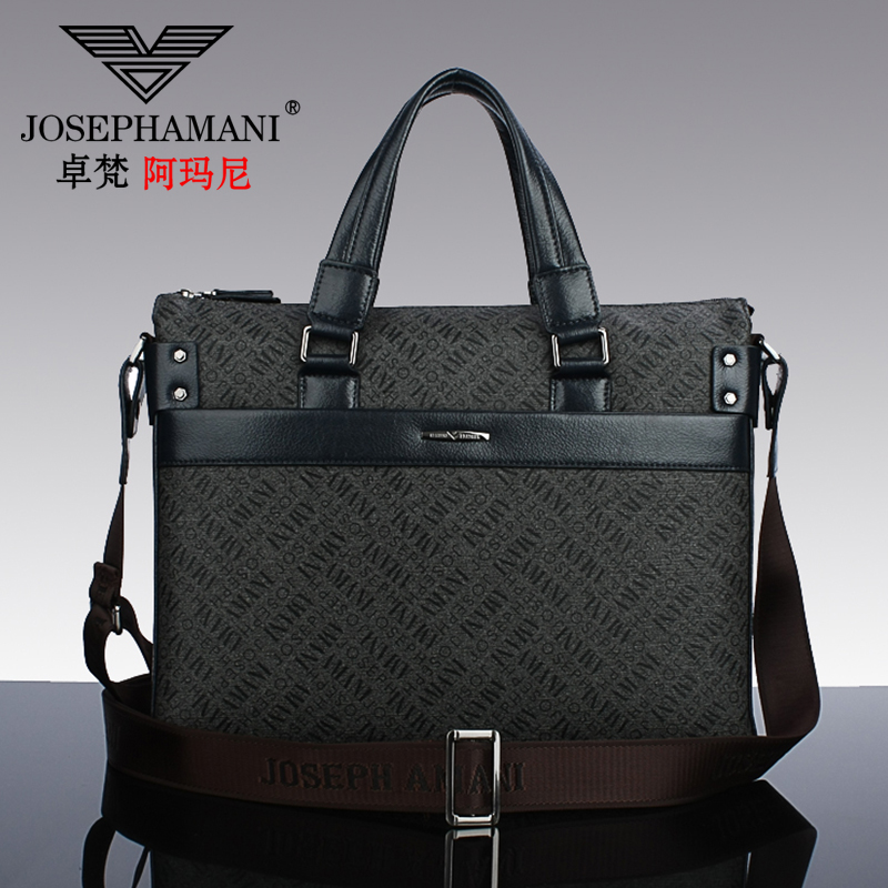 Zhuo fan armani man bag men's briefcase bag men cross section handbag in europe and america fan business casual bag shoulder bag