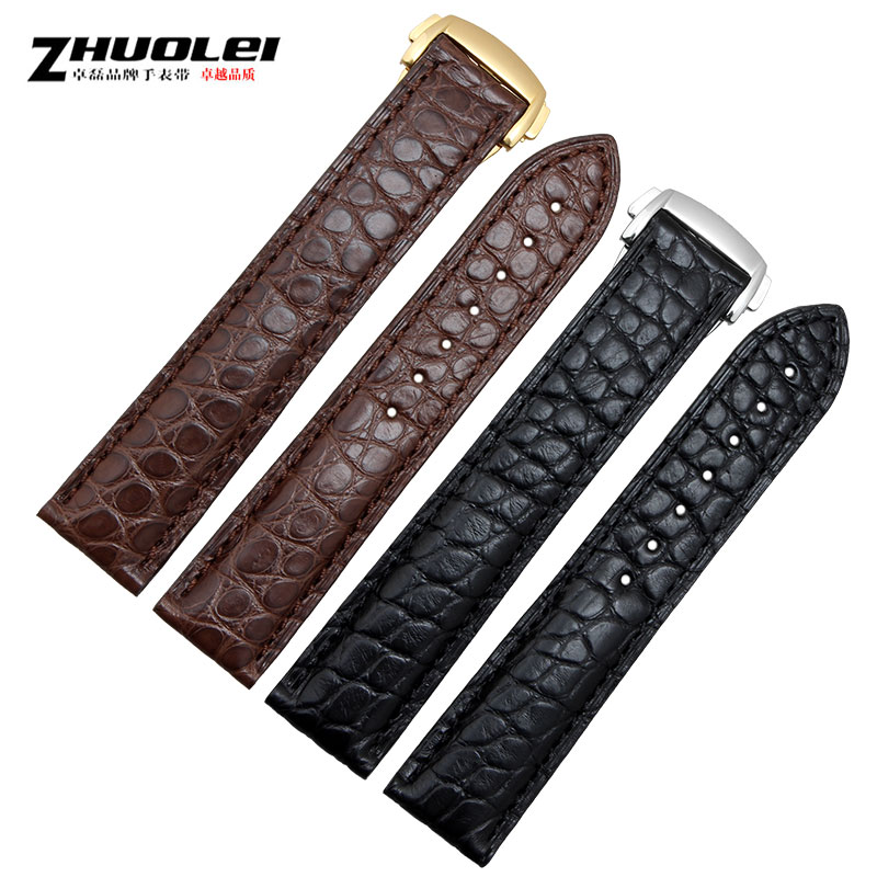 Zhuo lei leather strap alligator adaptering omg | omega speedmaster butterflies flying strap belt accessories 20mm