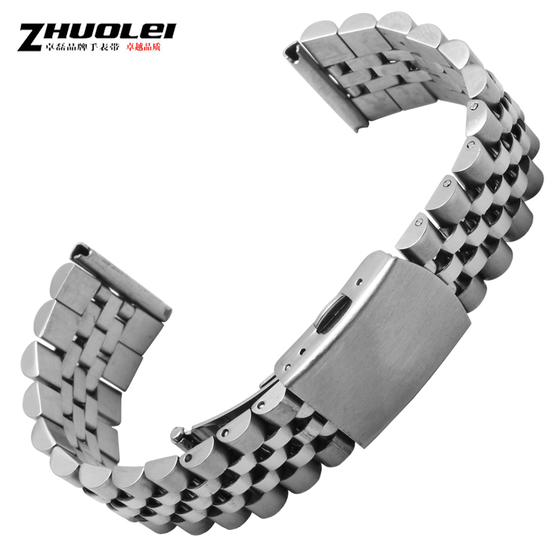 Zhuo lei solid stainless steel bracelet rose gold watch steel bracelet for men and women 18 | 20mm watches accessories