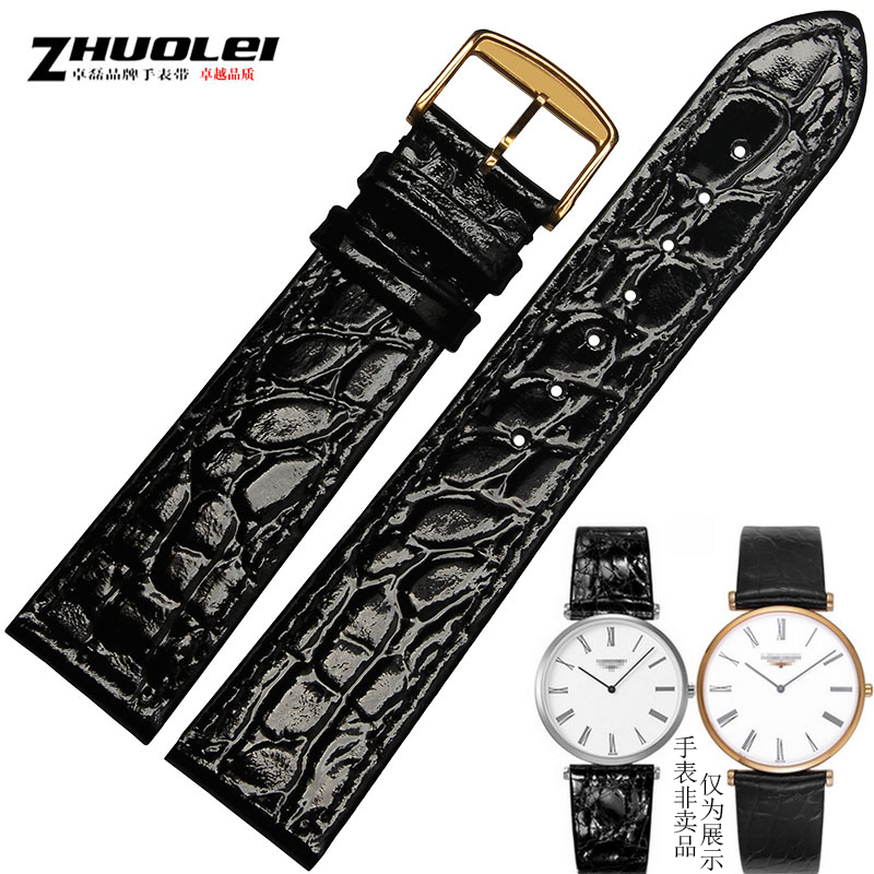 Zhuo lei thin strap on behalf of law ya ka lan magnificent longines l4 flag leather watches for men and women 13 18 20 Mm