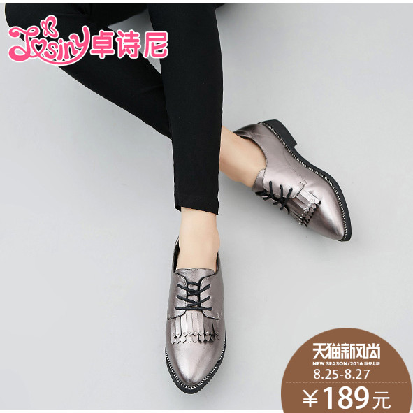 Zhuo poetry nigeria 2016 autumn new shoes women shoes low heel shoes autumn autumn england shallow mouth shoes autumn shoes tassel shoes