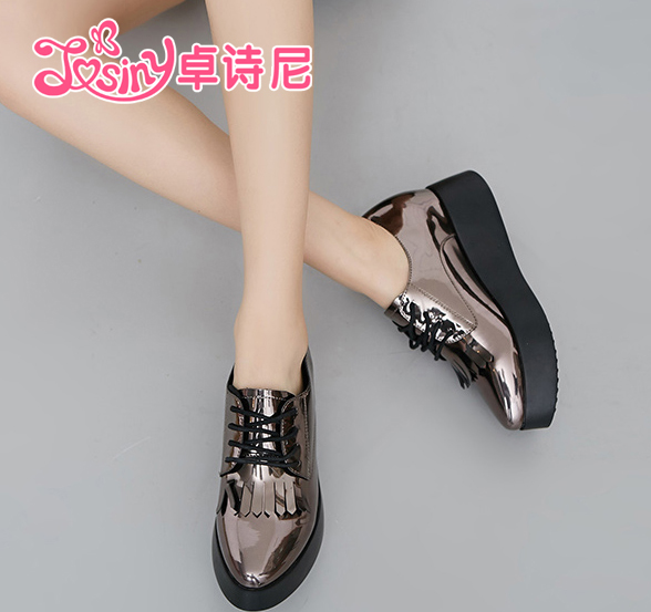 Zhuo poetry nigeria 2016 new single shoes women shoes patent leather tassel bottomed platform shoes casual shoes autumn autumn fashion autumn shoes women