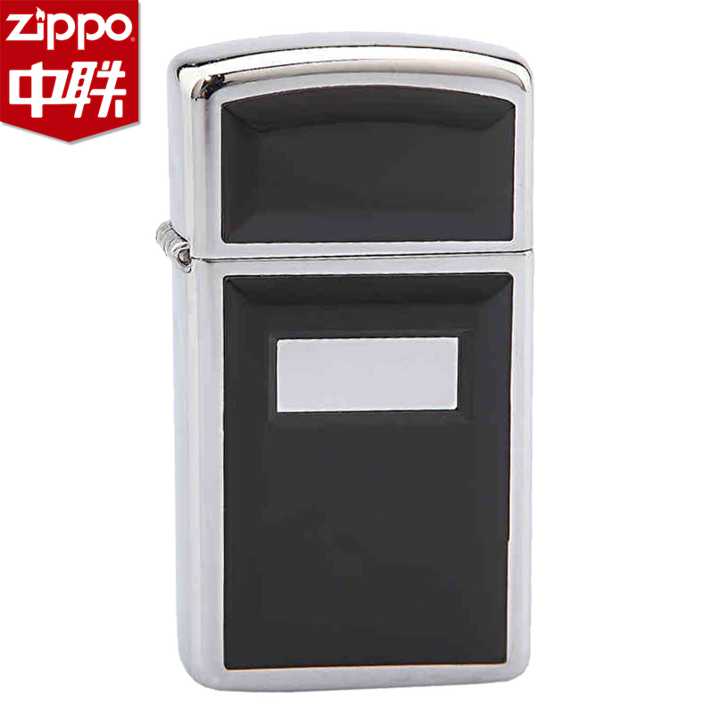 Zippo lighters 1655 aston tiny black mirror stickers chapter narrow machine american original genuine windproof