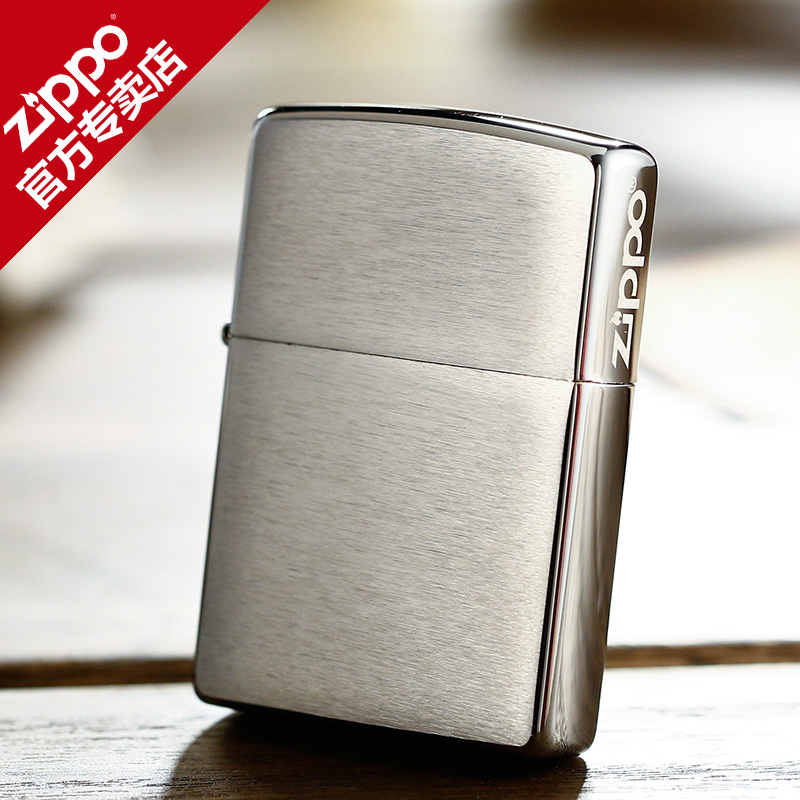 Zippo lighters genuine american original authentic new matte brushed chrome classic side zippo logo