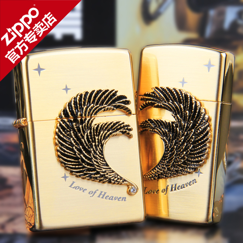 Zippo lighters treasure counters authentic korean version of the golden swan love couple on the machine genuine original