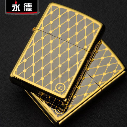 Zippo lighters zippo genuine limited edition gold tyrant gold plated diamond grid genuine zippo