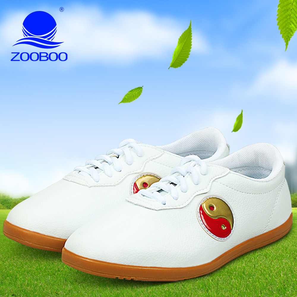 Zooboo/zhubo soft leather shoes tai chi practice tai chi shoes martial arts shoes tendon at the end