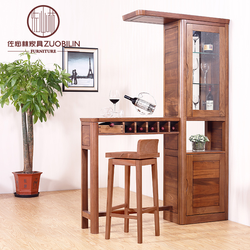 Zuo lin will be a black walnut wood furniture off the entrance cabinet wine cabinet modern minimalist cabinet manufacturer promotions can be customized