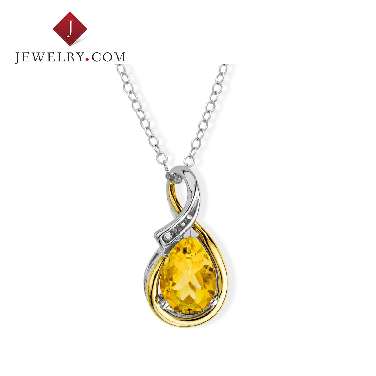 1.15 karat yellow Jewelry.com ms. sterling silver charm pendant k gold inlaid crystal diamond ornaments