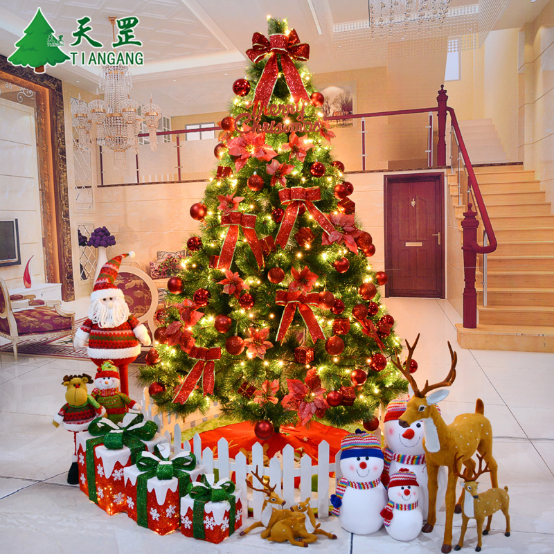 1.5 m christmas tree package 1.8 m christmas decorations 2.1 m/3 m large pine tree pendulum pendant Kit