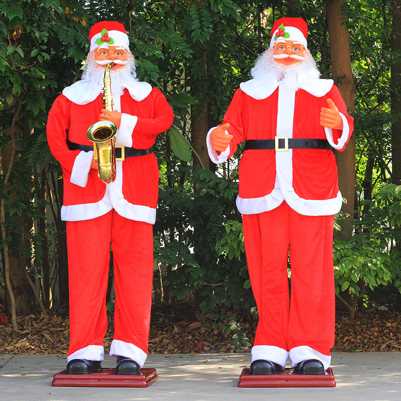 1.8 m electric santa claus saxophone music dancing santa claus christmas gifts christmas scene decoration