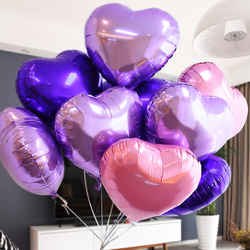 10 inch aluminum balloons wedding birthday party wedding marriage room decorated heart love foil arranged marriage wedding supplies