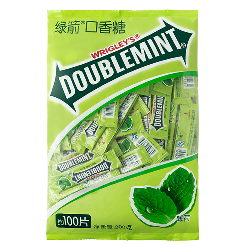 100 chip packaging wrigley doublemint gum mint flavor chewing gum gathering snack food and beverage