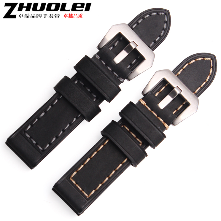 Zhuo lei leather strap watch with leather strap can be equipped with thick rough mad hamilton panerai PANERAI111