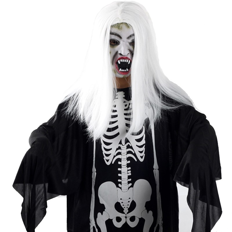 Fun point masquerade halloween costume show clothes witch mask skeleton ghost clothes + a variety of terrorism