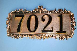 Antique copper floor signage hotel room number doorplates zinc aluminum house number plate digital signage