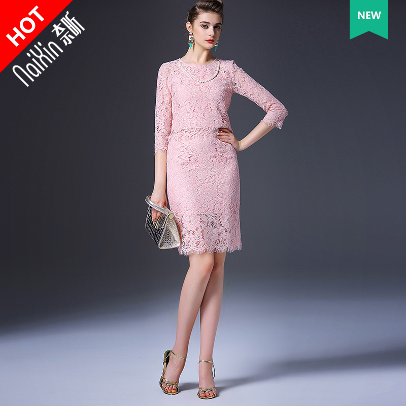 101467 new suit2016 nai xin custom custom ladies high fashion lace ladies fashion suits