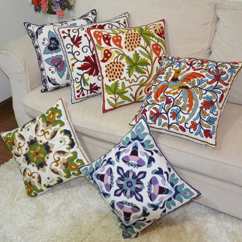Kellogg house us contadino ethnic handmade embroidered pillow core containing cotton pillow cover sofa cushion covers shipping