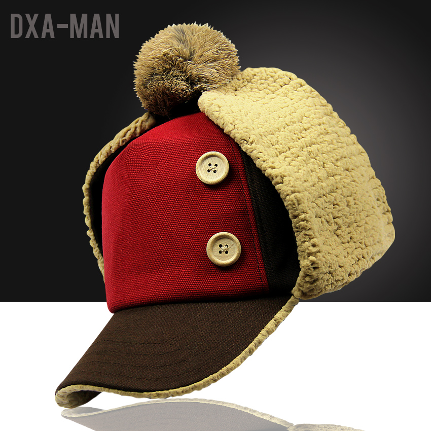 Dai show love winter plus thick velvet men's winter hat lei feng cap hat male ear cap hat warm hat northeast