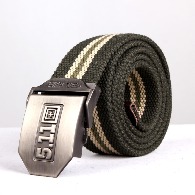 Ares outdoor new men's belt buckle smooth young men and women weave canvas belt casual canvas belt canvas belt