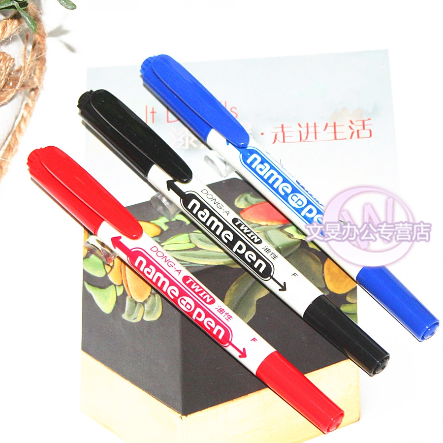 Genuine authorized korea dong-a marker marker pen headed oily oily marker marker pen hook line painting pen pen