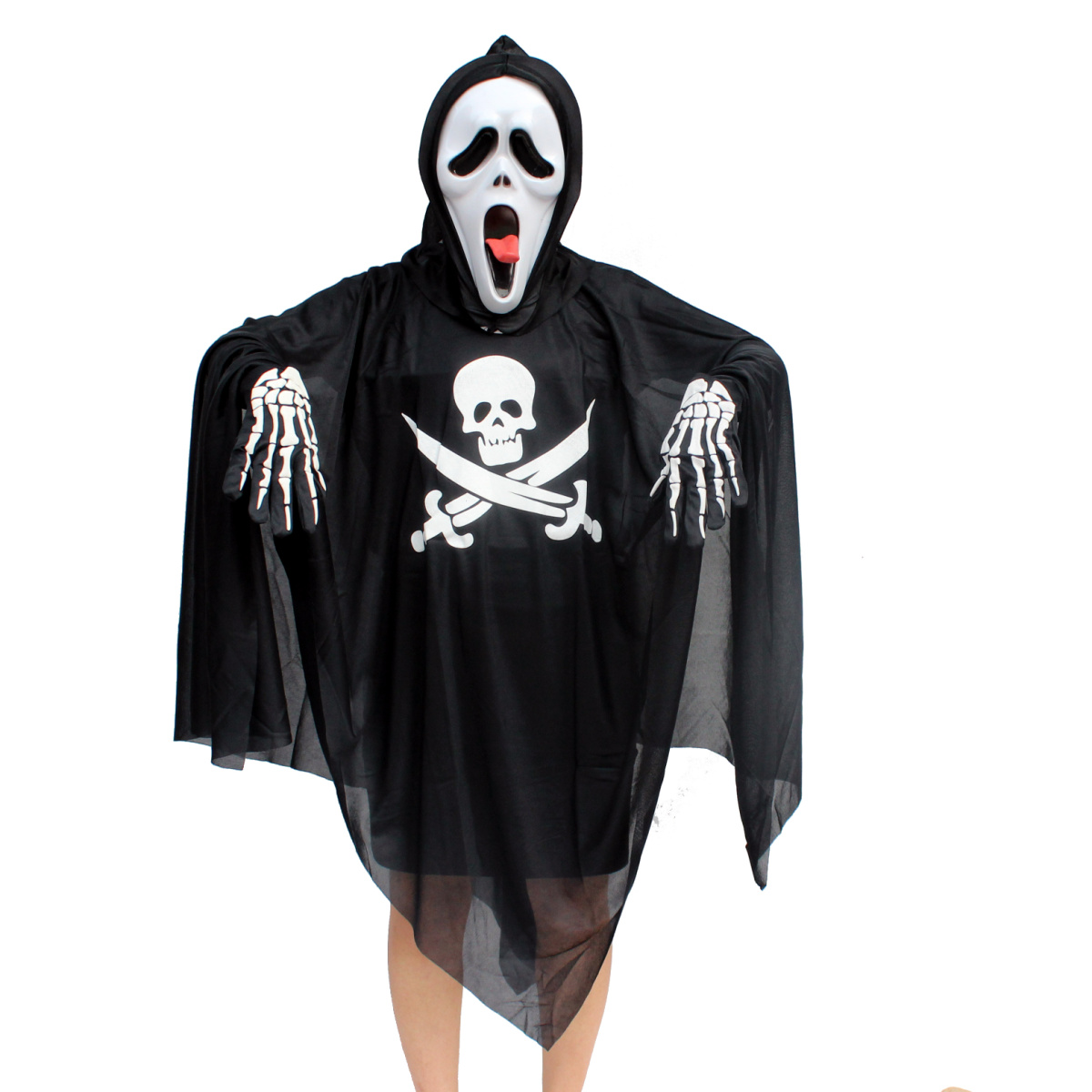 Creepy square halloween costume costumes adult child ghost pirate clothing sickle ghost clothes the devil mask