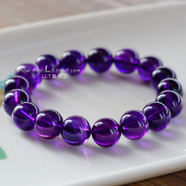 Llt genuine natural uruguay amethyst bracelet vitreous boutique purple crystal bracelets for men and women