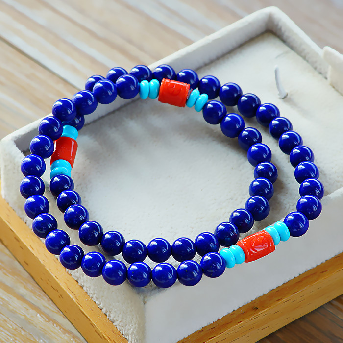 Llt genuine natural afghan lapis lazuli imperial 5a lapis lazuli beads bracelet bracelets for men and women