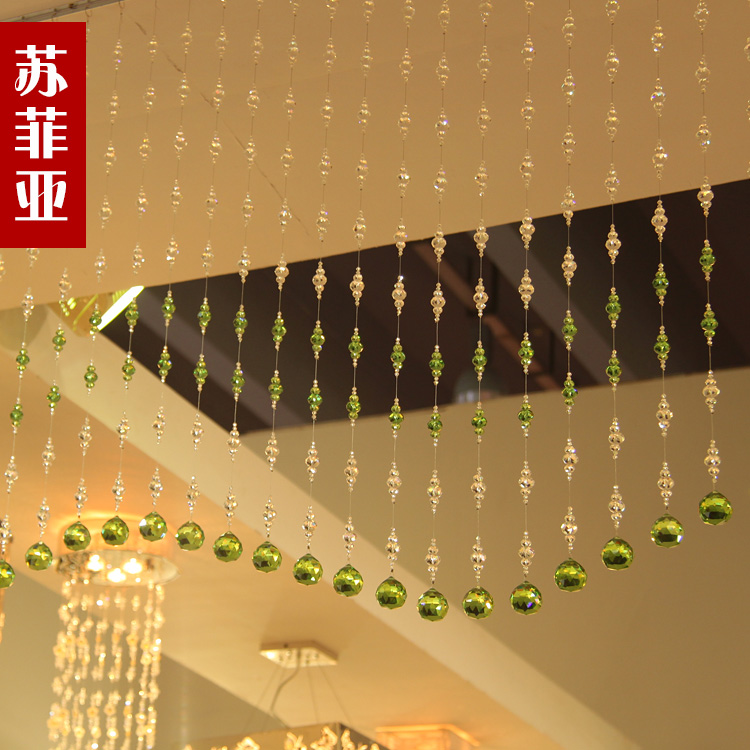 Sophia crystal bead curtain crystal bead curtain partition finished living room entrance curtain line curtain hung specials