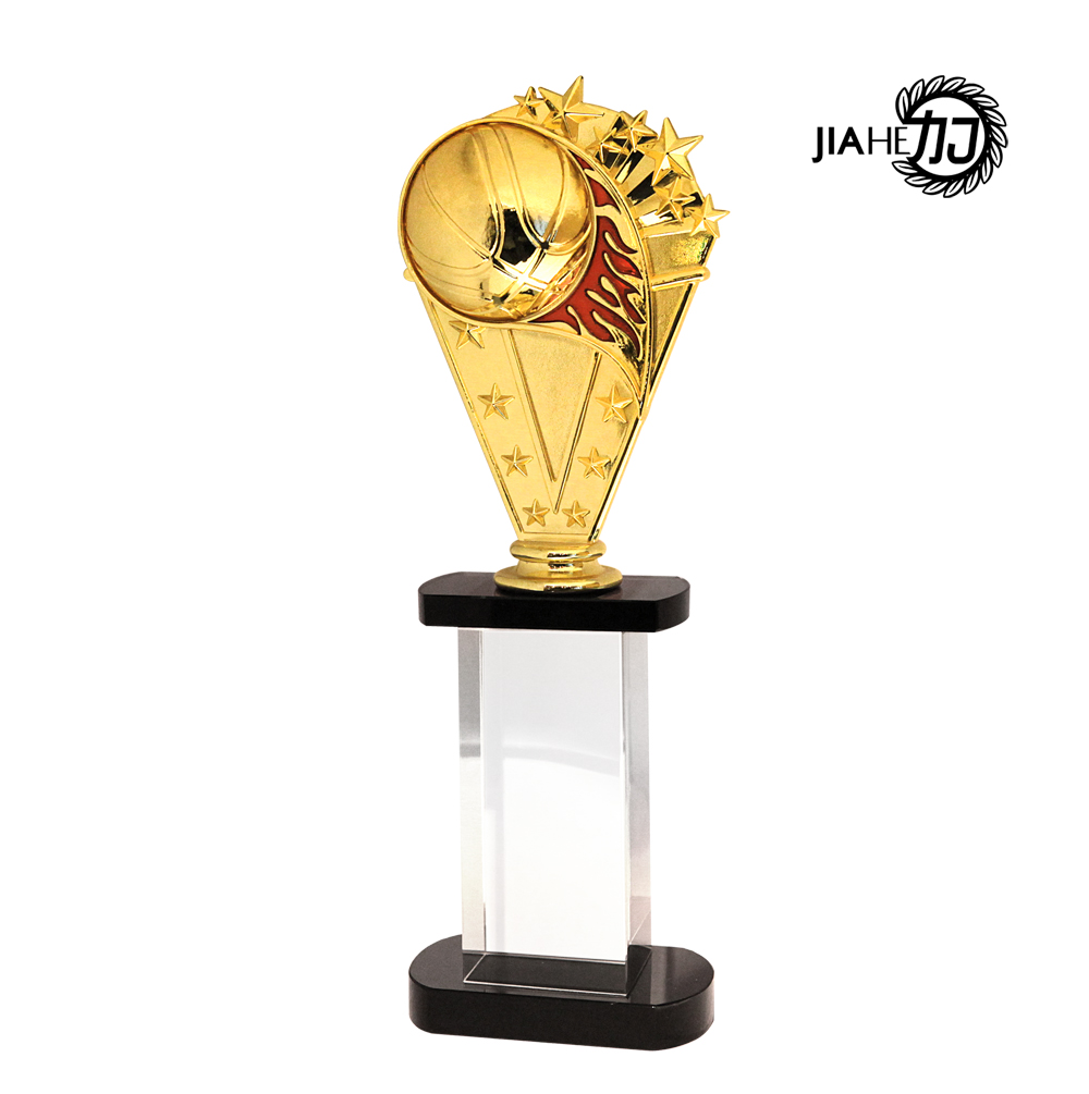 Jiahe trophy/personalized trophy/custom trophies/spot crystal trophy/metal trophy football trophy upscale