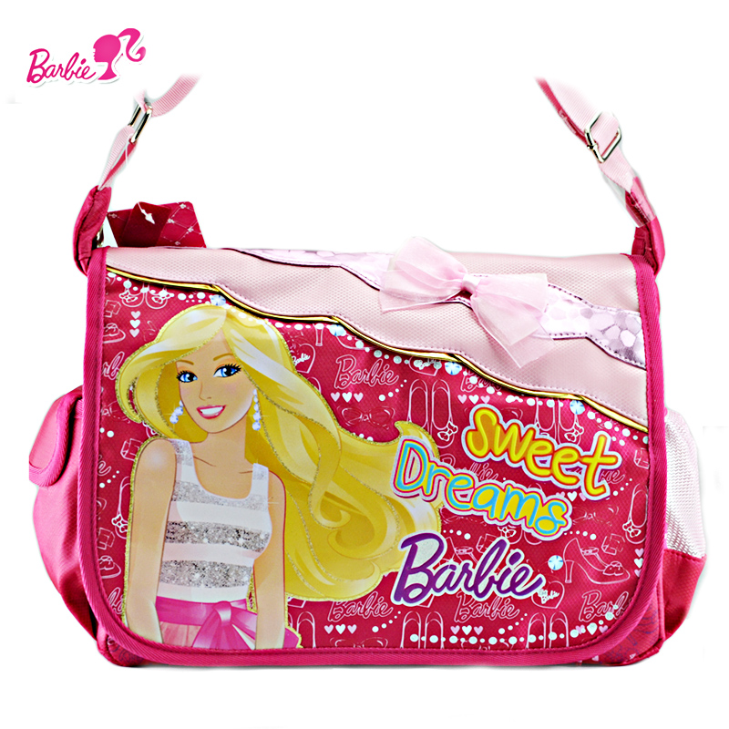 Barbie princess schoolbag bag messenger bag girls primary school children shoulder bag korean version of the new free shipping