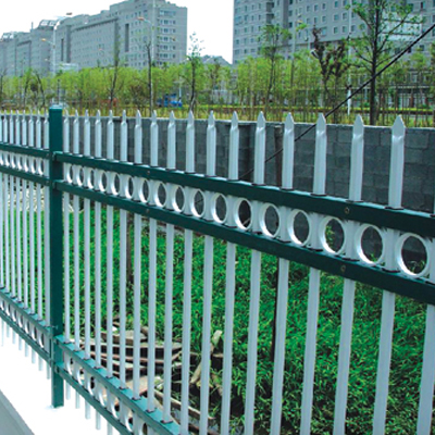 Custom galvanized zinc steel fence fence fence spray rustproof residential fence fence construction fence railings community