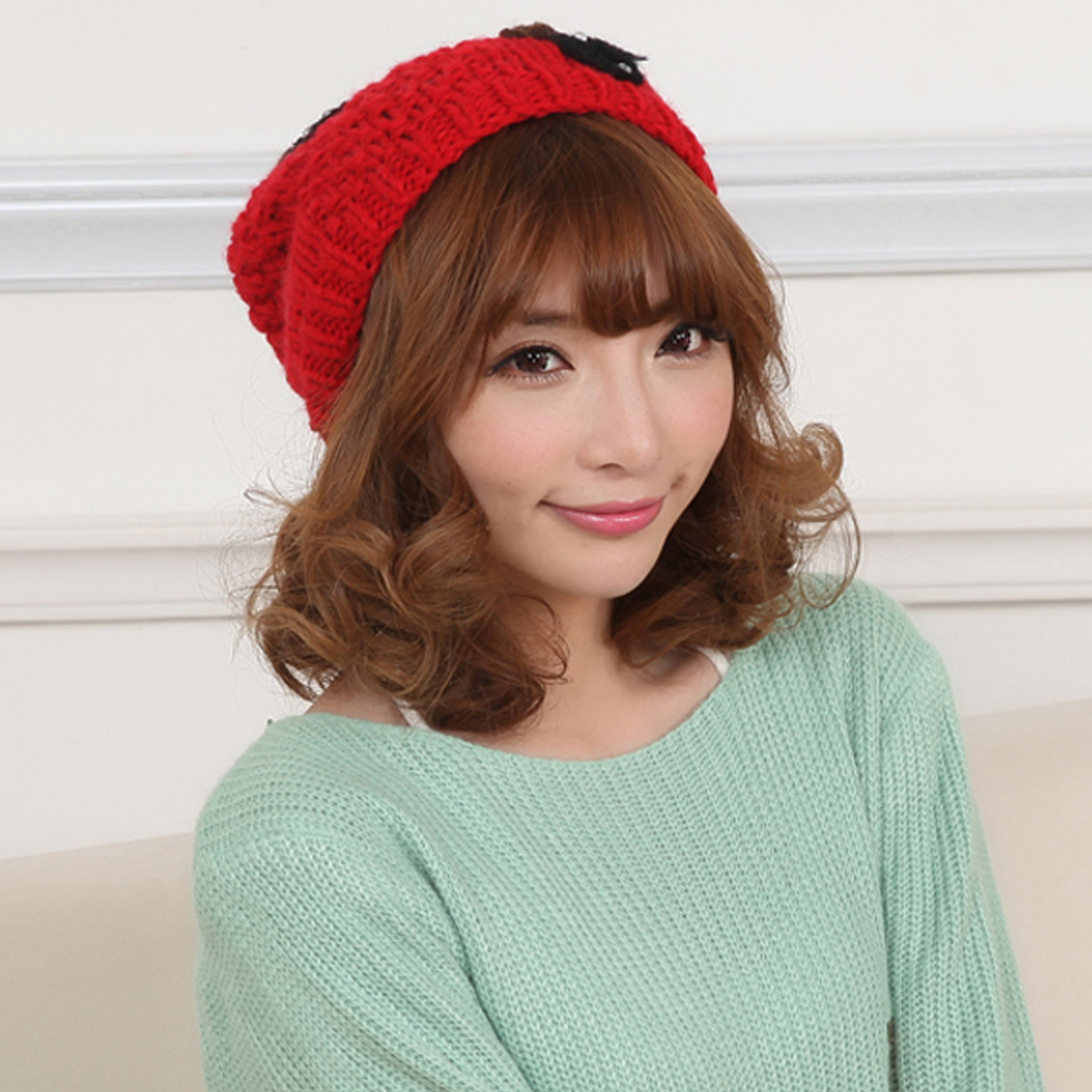 Winter hat female korean tidal thick paul warm hat knit hat wool hat korean autumn and winter hat female hat jd346