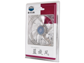 Cooler master blue tornado 12 cm silent computer chassis fan 12025 cm blue led fan