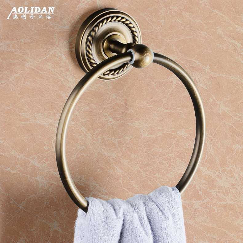 All copper antique towel ring towel hanging towel rack towel rack continental creative bathroom accessories increased thickening luxury type