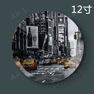 12 inch new york impression of american home living room background wall decoration hanging plate ceramic dish plate crafts