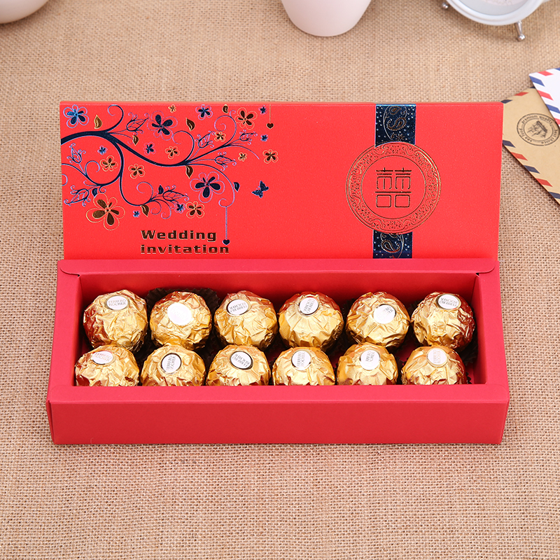 12 Pcs Ferrero Chocolate Gift Box Wedding Favor Candy Can Be Equipped With Lindt
