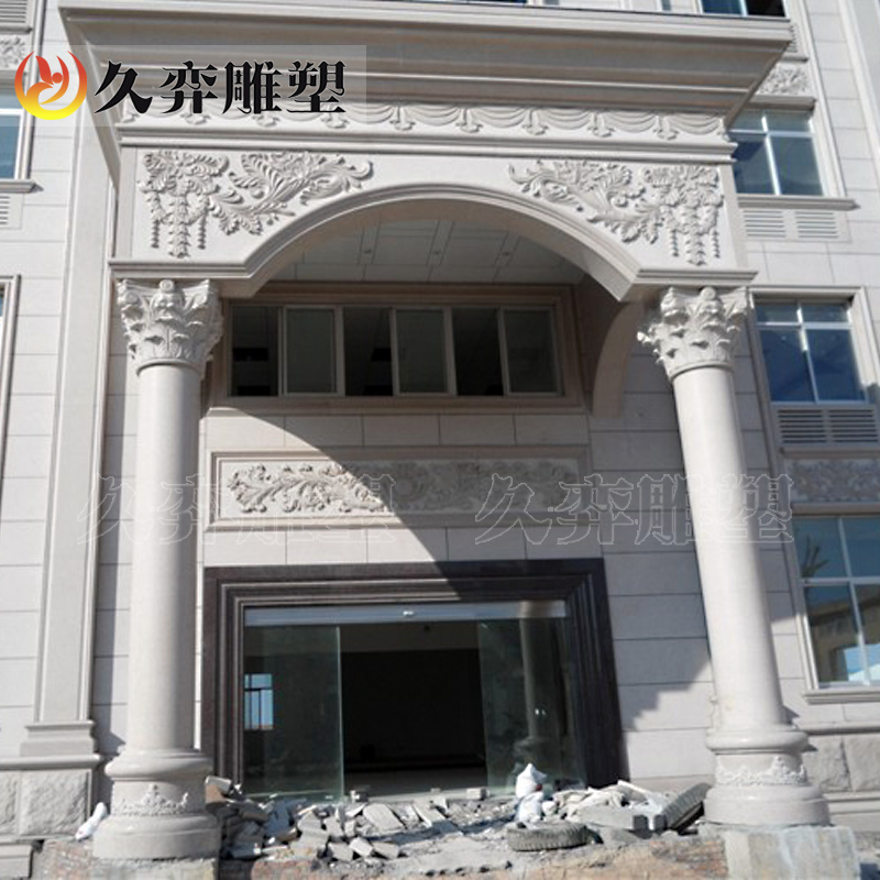 [Long yi stone carving sculpture] european roman marble pillars roman pillars leather