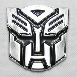Transformers autobots optimus 3d metal car stickers modified car stereo decorative labeling car stickers